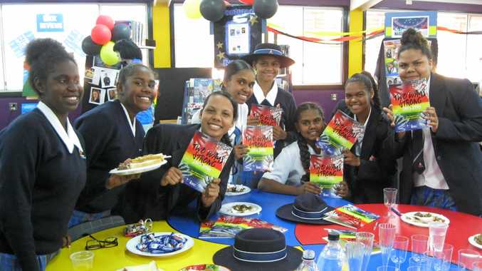 PUBLIISHED AUTHORS: A group of students from Concordia Lutheran College has written their own book to be launched at the Brisbane Writers' Festival (from left) Jana Giblet, Lakeisha Brown, Kelsey Harrigan, Balcarra West, Christine Watson, Stella-May Charles, Tiola Mudd and Raikiesha Castors.