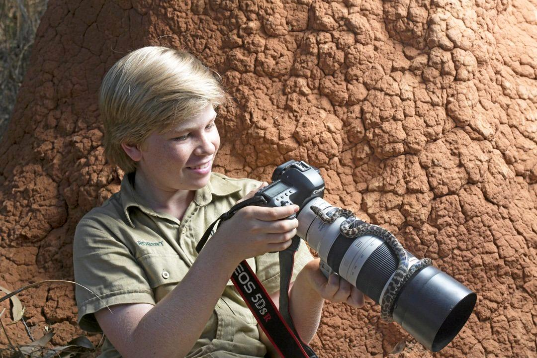 Apart from wildlife, photography is Robert Irwin's great passion.