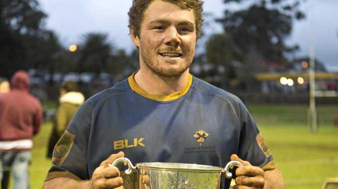 Dalby captain Sam Hogarth with the Risdon Cup last year.