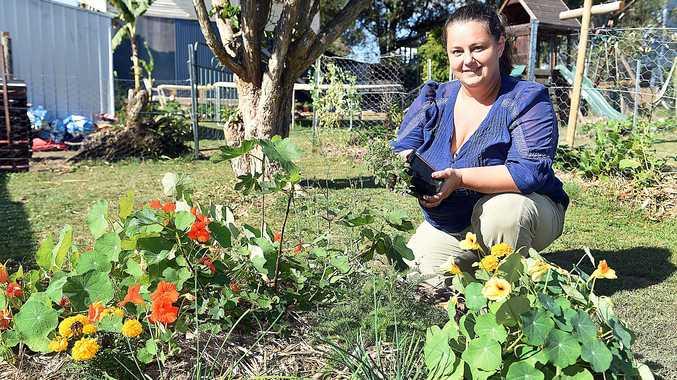 DIGGING IT: Maryborough's Naomi Callaghan in her garden.