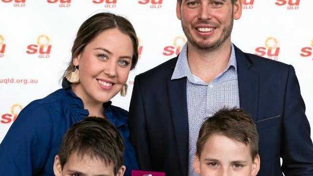 GREAT DAD: Mackay man Jeremy Lange is the father to three boys, two of which are autistic twins, and he just won Queensland's Father of the Year.