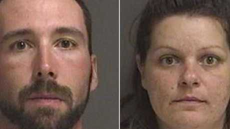 William Hoehn and Brooke Lynn Crews (right) are charged with conspiracy to murder Savanna Greywind after she visited their flat. Picture: Fargo Police Department.Source:Supplied