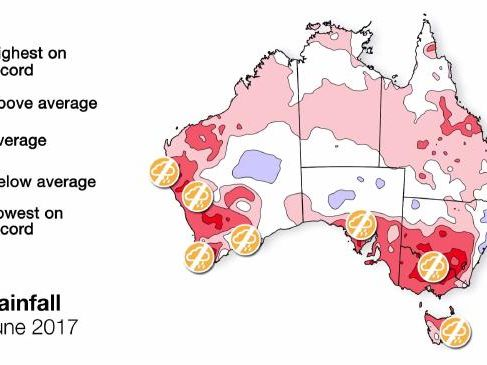 Temperatures in populated areas, as well as much of the Top End and Tasmania, are expected to be above average during spring. Picture: Bureau of Meteorology.Source:Supplied