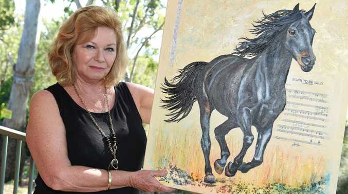 Hervey Bay artist Janine Hunt will have 20 paintings on display at RiverFest, including 'Born to be Wild'.