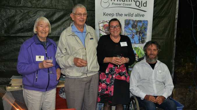 FOUR GENERATIONS: Former Wambaliman newsletter editors Pam Soper, John Sinclair, Jenni Watts, and current editor Rodney Jones, paid tribute to 50 years of the publication with a gathering at Botanic Gardens recently.