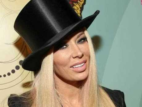 Jenna Jameson arrives at Perez Hilton's 34th Birthday and Mad Hatter's Ball, Saturday, March 24, 2012, at Siren Studios, in Los Angeles. In lieu of gifts, Perez Hilton has requested donations be made to VH1's Save The Music School Programs.