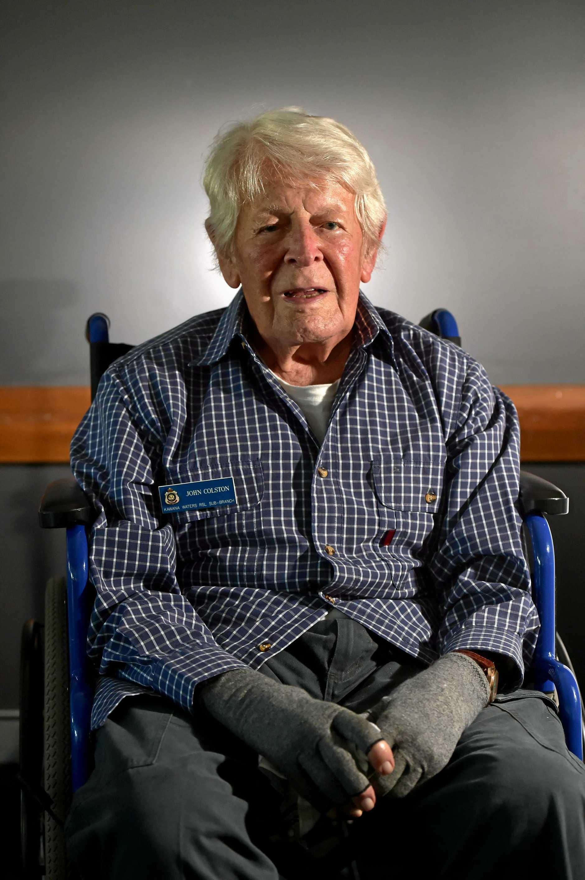 HITTING THE HEIGHTS: Second World War veteran John Colston.