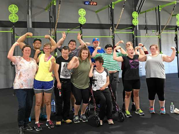 YUMBA BIMBI PARTICIPANTS: They have taken part in the CrossFit Vivid weekly gym workouts.