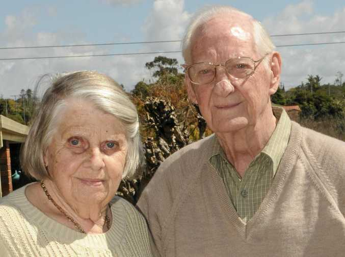 MILESTONE: Ken and Joyce Pugh celebrate their 70th wedding anniversary after first meeting in Manchester.