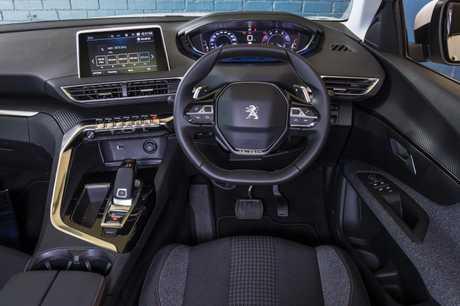 Inside the Peugeot 3008.