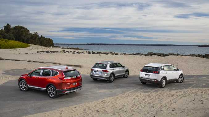 We put three new SUVs to the test, the Honda CR-V, Volkswagen Tiguan and Peugeot 3008.