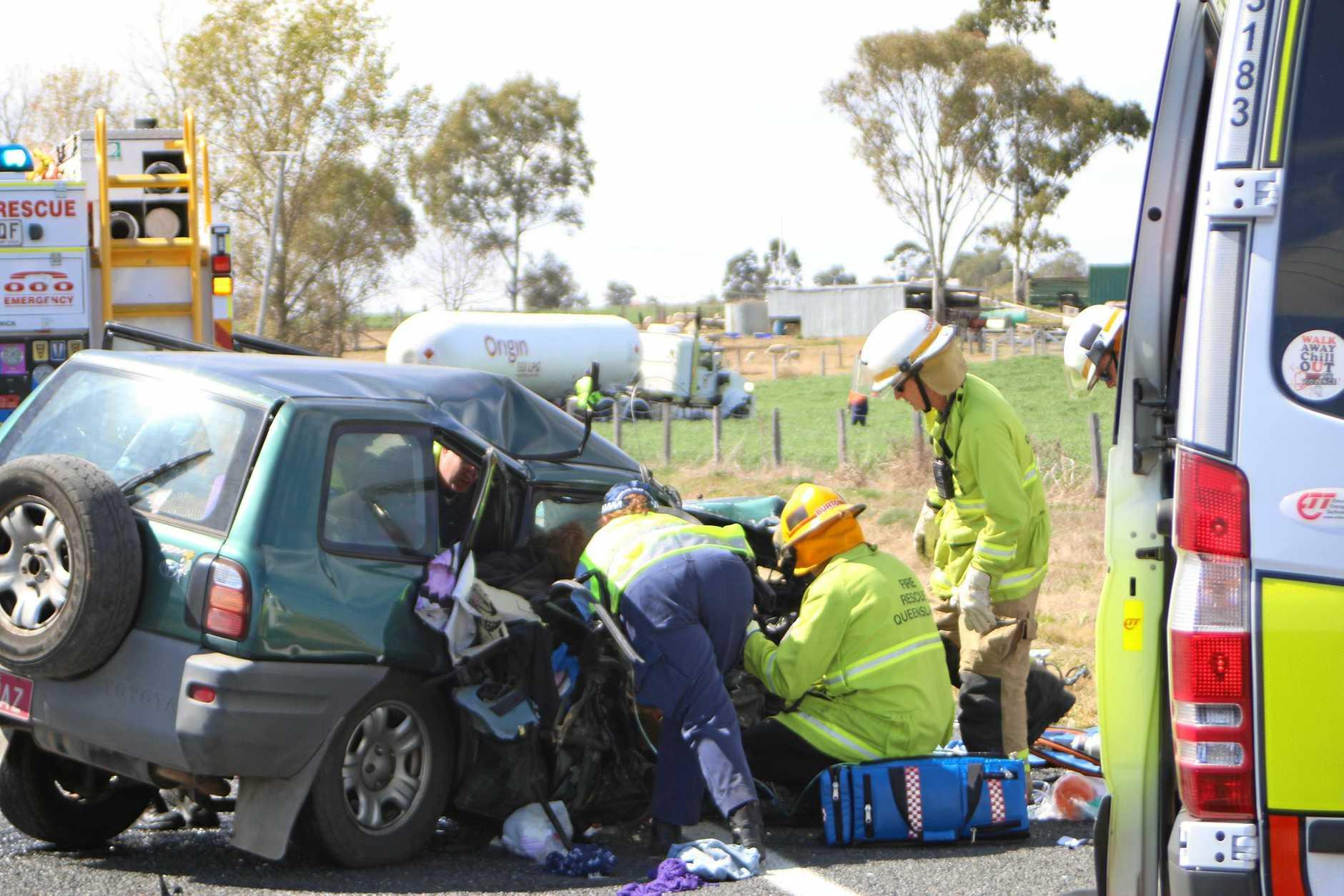 Cunningham Hwy crash.