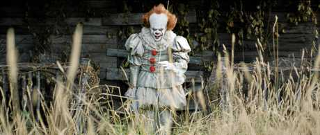Bill Skarsgasrd in a scene from the movie It. Supplied by Warner Bros.