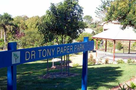 Dr Tony Parer Park in Bean St, Maleny, in 2005.