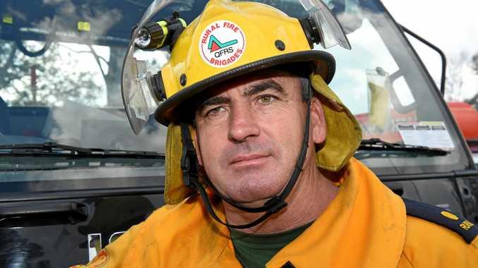 Brigade Officer Ricky Rowland from the Howard/Torbanlea Queensland Rural Fire Brigade.