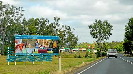 Moranbah file photo, welcome sign 2016.