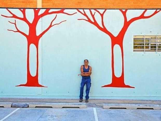 Bundjalung artist Luke Close is transforming the new art gallery carpark.