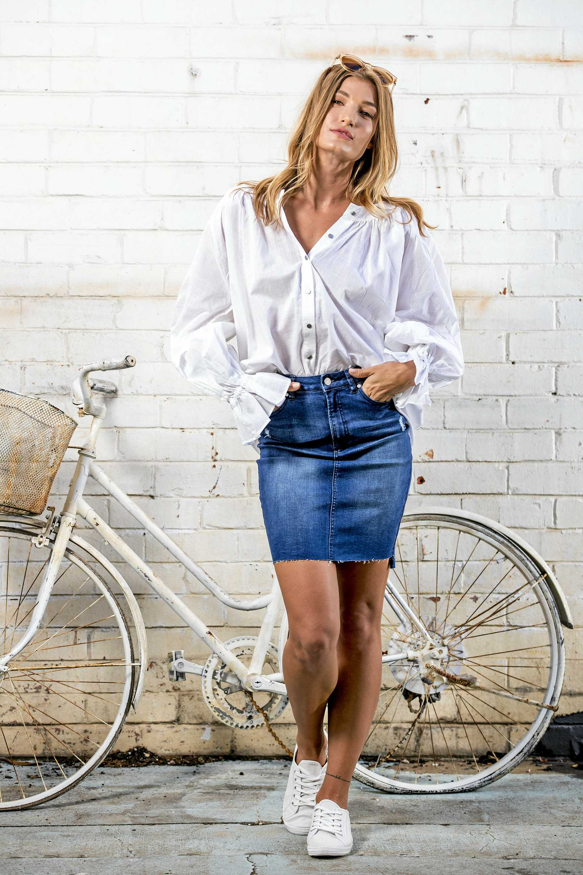 ### ON HOLD - MUST SEE Gold Coast Bulletin only Please check with Picture Editor before use ###Spring fashion spread for Gold Coast Eye, Styled by nmedia/Robina Town Centre, model Fanny Nylander from Que Models at The Borrowed Nursery at Mermaid Beach. Picture: Jerad Williams