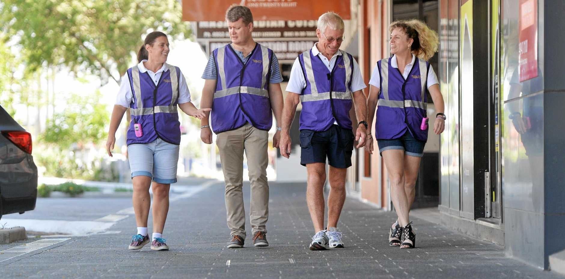 Mackay Street Chaplaincy provides water, first aid, practical assistance and a friendly ear to Mackay revellers partying in the city centre on weekends.