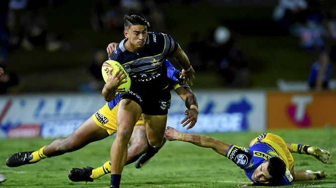 Enari Tuala playing for the Cowboys under-20s.