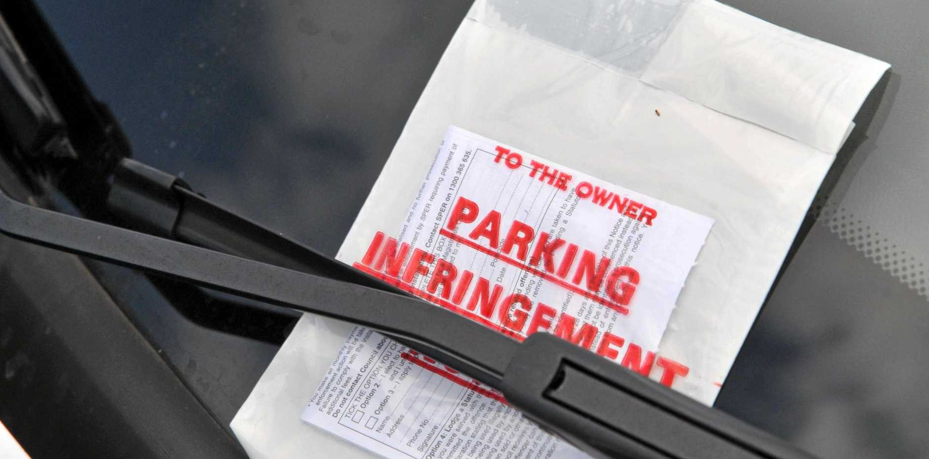 FINED: Max Tierney is fuming after copping a parking fine he says was a result of the sun.