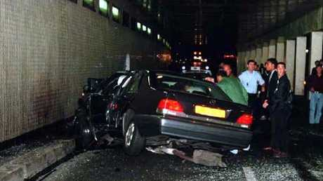 The scene of the accident in the Paris underpass. Picture: Supplied