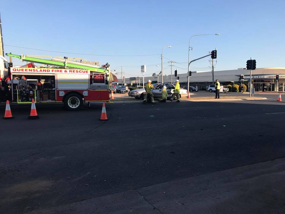 AVOID: The scene of the crash at the intersection of Gladstone Rd and Kariboe St, Biloela.