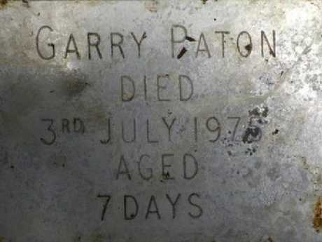 Gary's name was spelt incorrectly on a nameplate on top of the coffin. Picture: BBCSource:Supplied