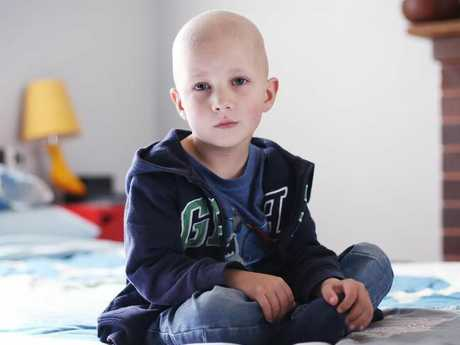 Five-year-old Fred Corbett has recently undergone radiation treatment for brain cancer. Picture: Sam Ruttyn