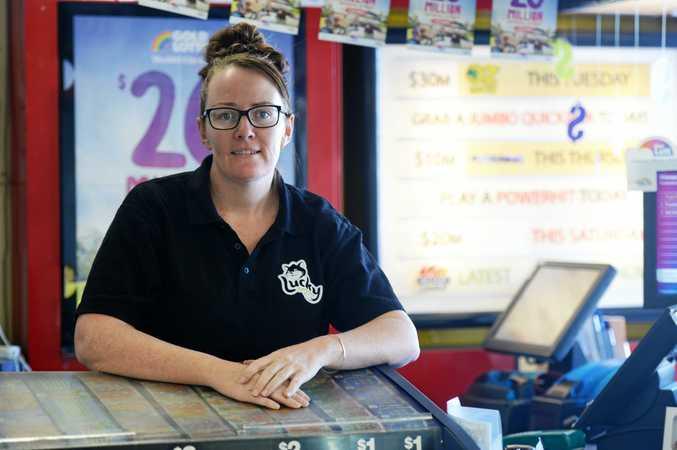 Blackwater Newsagent Jodie Lane.