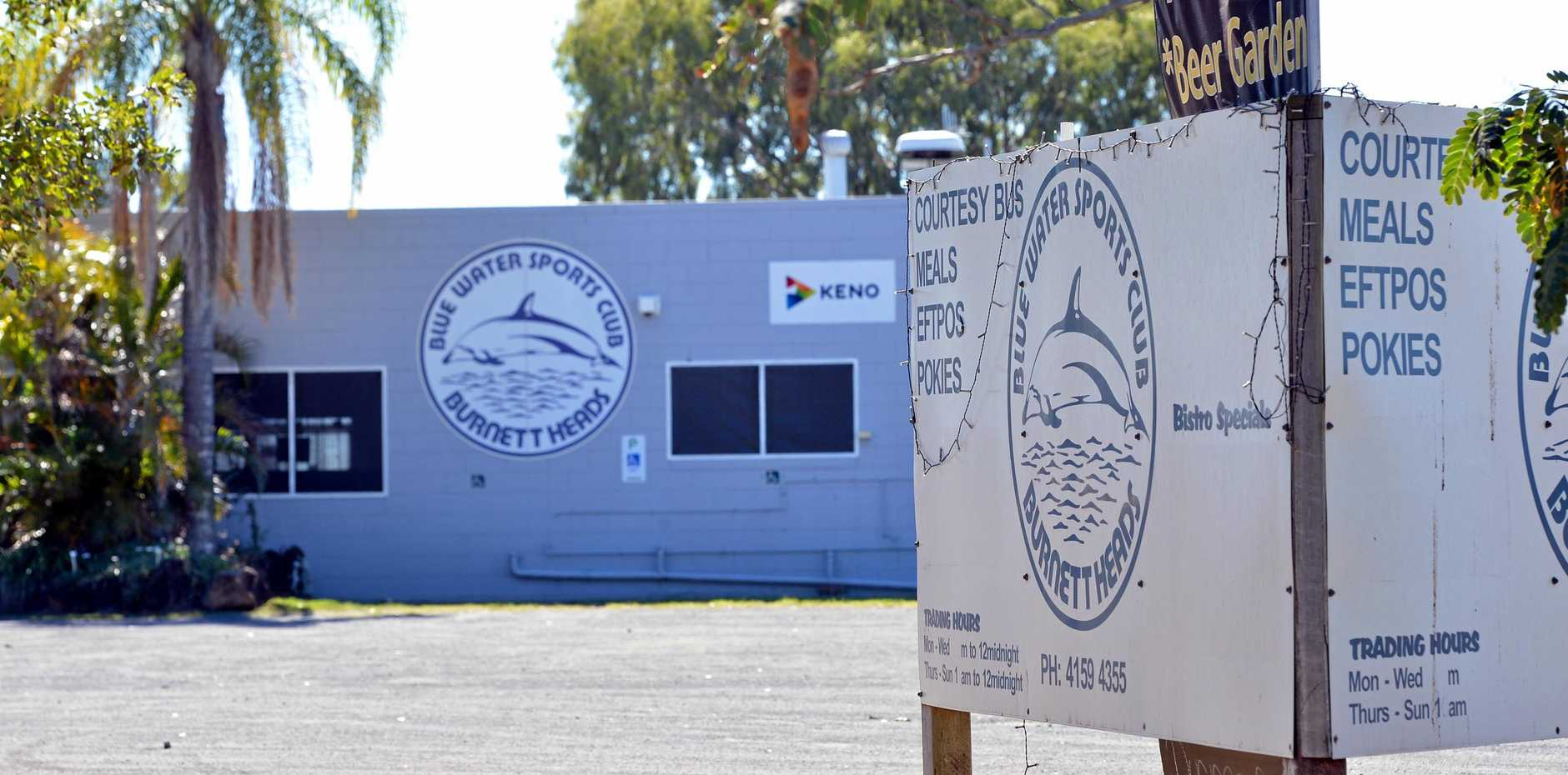 TROUBLED WATERS: The Blue Water Club in Burnett Heads has closed its doors.
