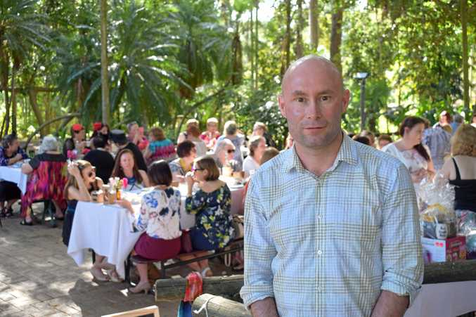 LOFTY AMBITIONS: Dr Matthew Burge at a high tea fundraiser at the Gardens on Saturday. He is hoping to raise $100,000 by climbing Mt Aconcagua.