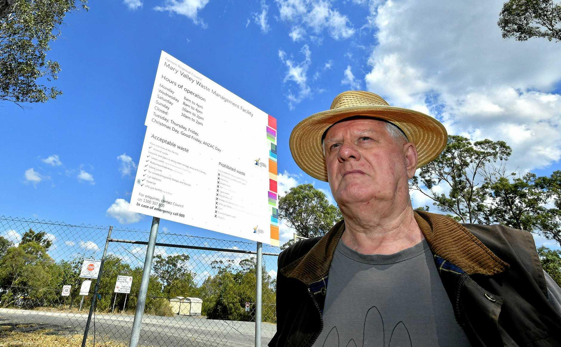 Roger Hogg outside the Imbil dump.