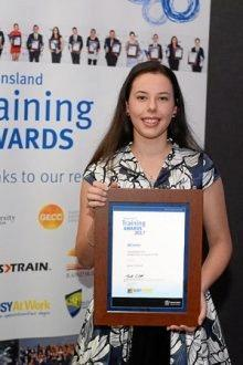 TOP TRAINEE: Katie Emmert, from Parkhurst, won the 2017 Bob Marshman Trainee of the Year award.