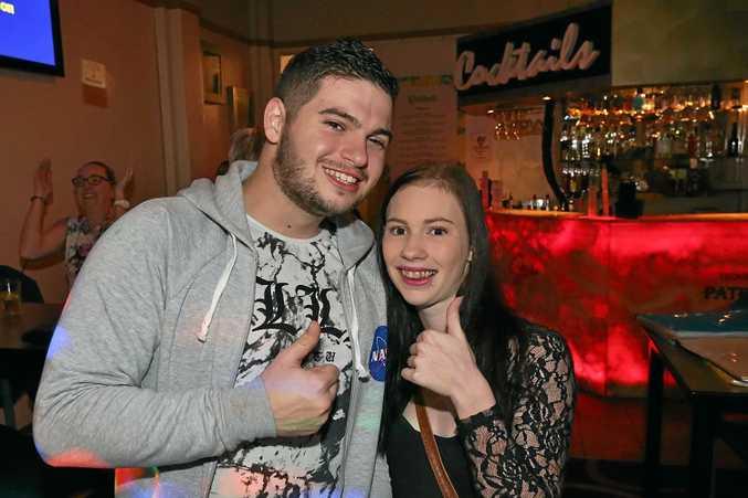 L-R Adam Stephens and Kiara Stephens at the Ginger Mule.
