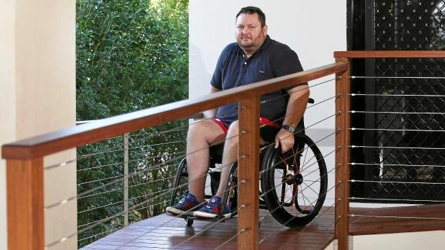 Cairns man Brad Wszola has been left a paraplegic after having a nerve root steroid injection administered to relieve pain in his shoulder blade.