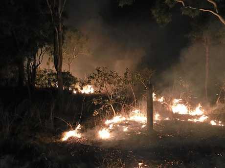 A fire at Illawong Beach Mackay.