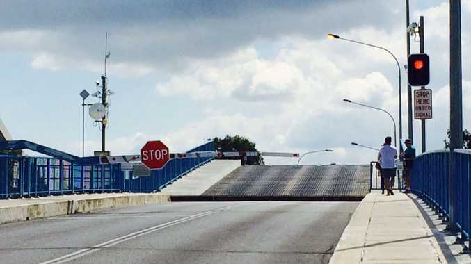 The marina bridge briefly stopped working after a man jumped the boom gates while it was still moving today.