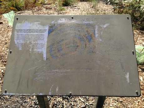 Three Toowoomba plaques honouring Aboriginal warrior Multuggerah have been vandalised at Duggan Park.