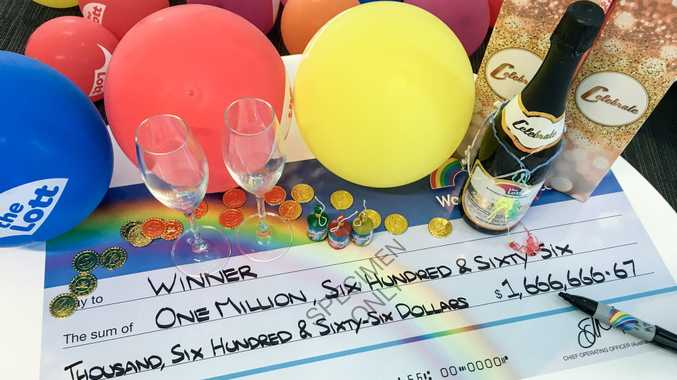 A Hervey Bay retiree is celebrating a big lotto win.