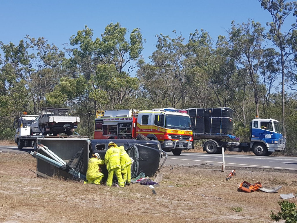 One lane of the Bruce Hwy is closed after a crash at Aldershot.