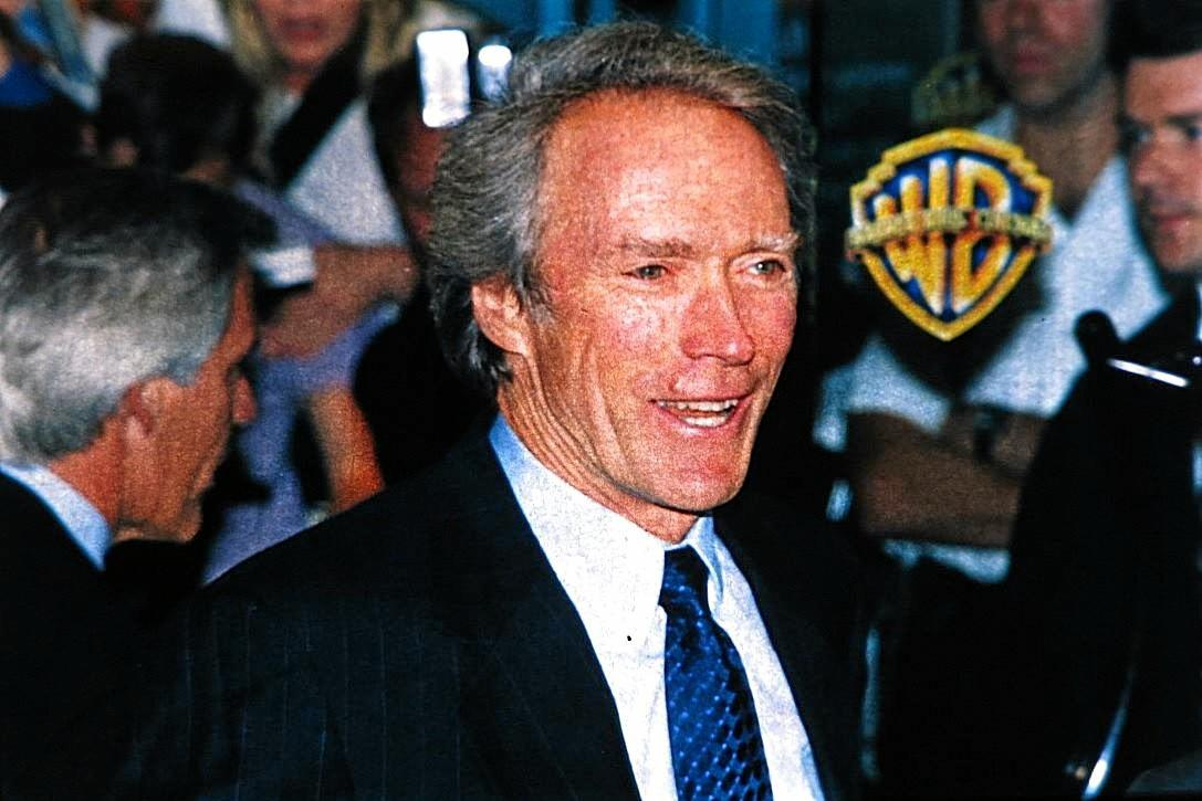 Clint Eastwood at an event in the 1990s captured by Paul Neil during his time working as a photographer in London.