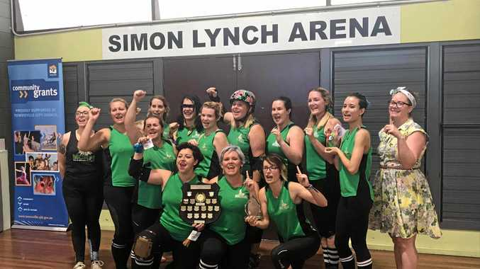 WINNERS: The Mackay City Roller Maidens are currently North Queensland's Number one Roller Derby Team.