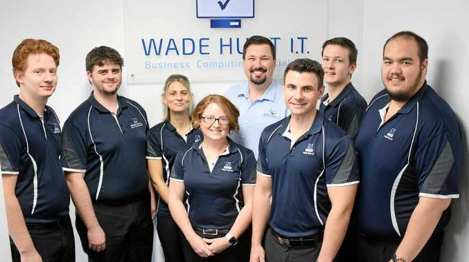 BOLD BUSINESS: The team at Wade Hunt IT.