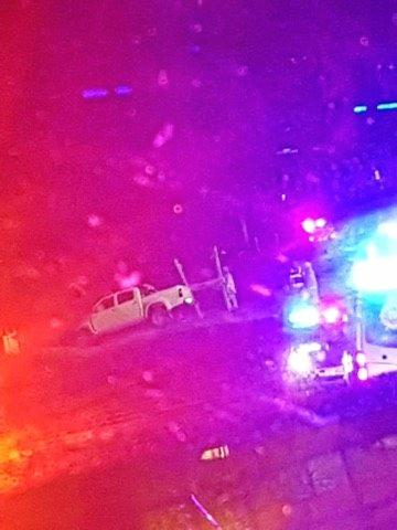 A man was airlifted to hospital in Brisbane on Sunday night following a crash on Vantage Rd.