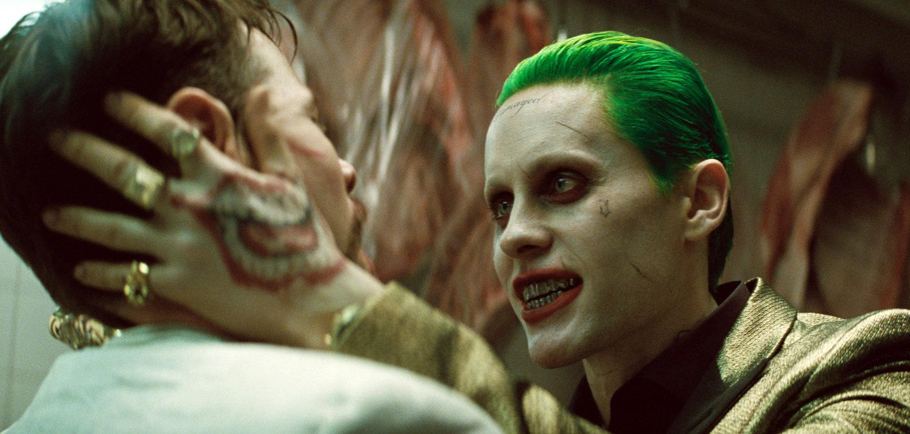 Jared Leto as the Joker a scene from Suicide Squad.