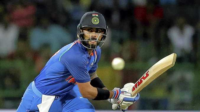 India's captain Virat Kohli on his way to his 30th ODI century.