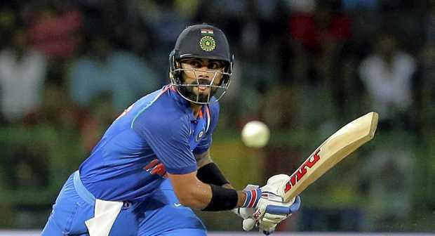 India's captain Virat Kohli on his way to his 30th ODI century.