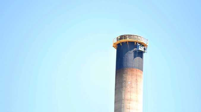 UPGRADE: Repair work worth $1m is under way for stack 2 at the NRG Gladstone Power Station.