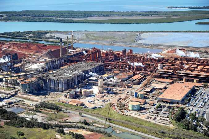 Aerial View of Queensland Alumina Limited (QAL) Gladstone.    Photo Brenda Strong / The Observer